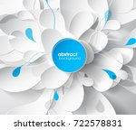 abstract colored flower... | Shutterstock .eps vector #722578831