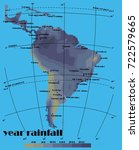 south america year rainfall