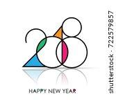 happy new year 2018 vector... | Shutterstock .eps vector #722579857