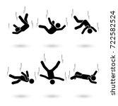 falling man stick figure... | Shutterstock .eps vector #722582524
