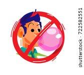 no chewing gum sign   vector...   Shutterstock .eps vector #722582551