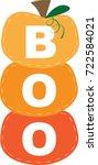 happy halloween harvest boo... | Shutterstock .eps vector #722584021