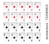 set of royal flushes isolated... | Shutterstock .eps vector #722585815