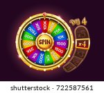 bonus wheel of luck. vector... | Shutterstock .eps vector #722587561