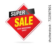 special offer  sale labels ... | Shutterstock .eps vector #722587801