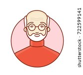 the face of an old man.... | Shutterstock .eps vector #722599141