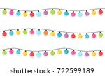 colorful round christmas lights ... | Shutterstock .eps vector #722599189