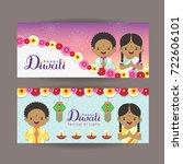 diwali or deepavali banner... | Shutterstock .eps vector #722606101
