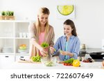 healthy eating  family and... | Shutterstock . vector #722607649