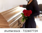 people and mourning concept  ... | Shutterstock . vector #722607724