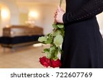 people and mourning concept  ...   Shutterstock . vector #722607769