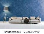 3d render of beautiful interior ... | Shutterstock . vector #722610949