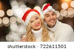 christmas  holidays and people... | Shutterstock . vector #722611501