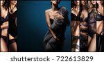 set of beautiful sexy and young ... | Shutterstock . vector #722613829