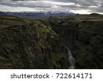 panorama of the deep canyon in... | Shutterstock . vector #722614171