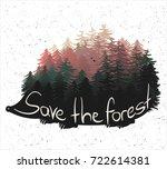 hedgehog with quills as pine... | Shutterstock .eps vector #722614381