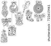 christmas pattern  tree... | Shutterstock .eps vector #722615461