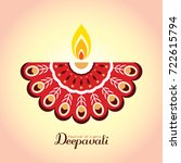 diwali or deepavali symbol or...   Shutterstock .eps vector #722615794