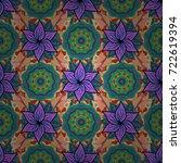 vector cute fabric pattern.... | Shutterstock .eps vector #722619394