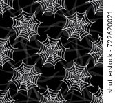 black spider web seamless... | Shutterstock .eps vector #722620021