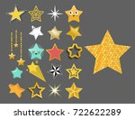 shiny star icons in different... | Shutterstock .eps vector #722622289