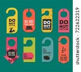 please do not disturb hotel... | Shutterstock .eps vector #722622319