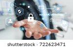 businessman on blurred... | Shutterstock . vector #722623471