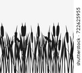 Water Reed Plant Cattails Blac...