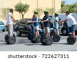 Small photo of France. Nice. 20 Jun 2017. Tourists on a Segway tour get acquainted with the city.