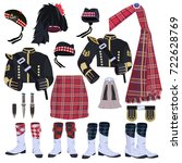 scottish traditional clothing... | Shutterstock .eps vector #722628769
