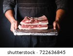 pork belly farm fresh pork... | Shutterstock . vector #722636845