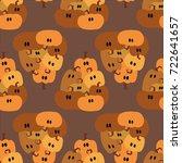 pumpkin  pattern  vector...   Shutterstock .eps vector #722641657