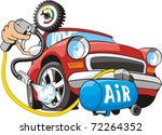 sign of air for car wheels | Shutterstock .eps vector #72264352
