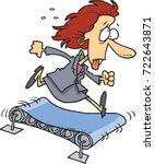 cartoon business woman running... | Shutterstock .eps vector #722643871