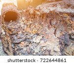 rust and corrosion in the pipe... | Shutterstock . vector #722644861