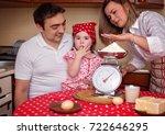 cooking is fun. happy mother... | Shutterstock . vector #722646295