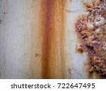 rust and corrosion in the weld... | Shutterstock . vector #722647495