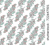 floral pattern with branches... | Shutterstock .eps vector #722647501
