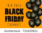 black friday sale. beautiful... | Shutterstock .eps vector #722652811