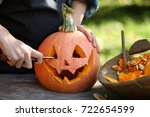 Small photo of carve pumpkins for Halloween