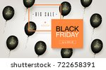 black friday sale. beautiful... | Shutterstock .eps vector #722658391