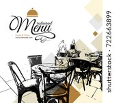 restaurant menu design. vector... | Shutterstock .eps vector #722663899