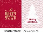 happy new year and merry... | Shutterstock .eps vector #722670871