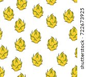 hand drawn sketch style yellow... | Shutterstock .eps vector #722673925
