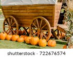 image of pumpkin decoration for ... | Shutterstock . vector #722676574