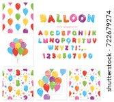 balloon big set. for birthday... | Shutterstock .eps vector #722679274