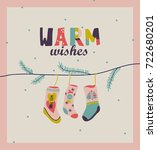 happy new year cute card.   Shutterstock .eps vector #722680201