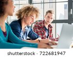close up on student holding a... | Shutterstock . vector #722681947