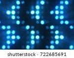 flashing lights bulb spotlight... | Shutterstock . vector #722685691