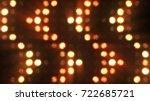 flashing lights bulb spotlight... | Shutterstock . vector #722685721